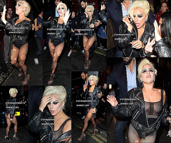 09/06/15 : Lady Gaga quittant son appartement pour aller à son cours de Yoga à Londres, UK.