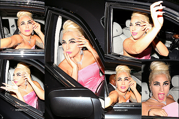 31/05/15 : Lady Gaga a été vue sortant du château Marmont dans la soirée à Los Angeles, CA.