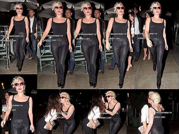 02/09/15 : Lady Gaga & Lisa Vanderpump ont été vues à la sortie du restaurant Pump à W-H.