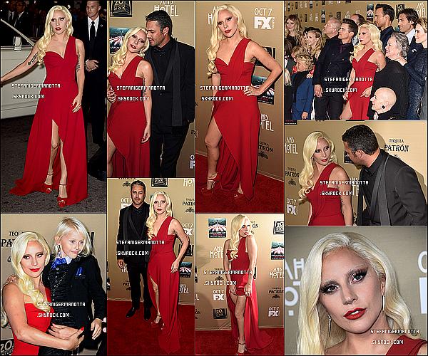 03/10/15 : Lady Gaga était à l'avant première de la saison 5 d'American Horror Story à Los-A.