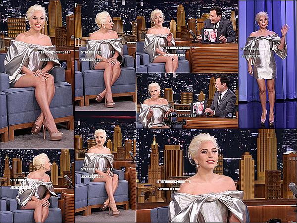 06/10/15 : Lady Gaga était sur le plateau de The Tonight Show présenté par Jimmy Fallon à NY.
