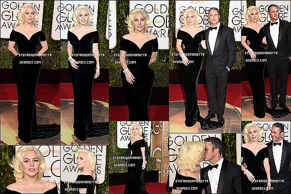 10/01/16 : Lady Gaga était présente à la cérémonie des « Golden Globes 2016 » à Beverly Hills.