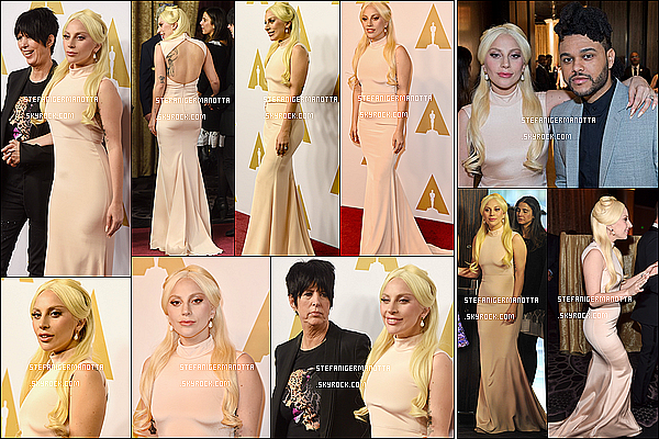 08/02/16 : Lady Gaga était au déjeuner des nominés des Oscars au Beverly Hilton, Los Angeles.