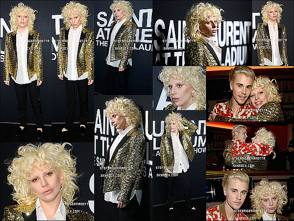 10/02/16 : Lady Gaga était présente au défilé du créateur Yves Saint-Laurent à Los Angeles.