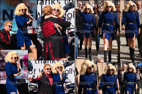 27/02/16 -Lady Gaga  a été vue arrivant à Tower Records pour le concert avec Elton John - dans L-A. Puis nous avons eu des photos pendant le show et pour finir, elle a été photographiée à sa sortie du concert dans les rues de la ville ...