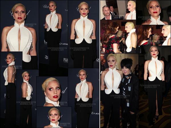 27/02/16 - Dans la soirée,Lady Gaga  s'est rendue au célèbre dîner des « Pré-Oscars » - à Beverly Hills. L'excentrique Gaga a rencontré la talentueuse chanteuse Lana Del Rey de nouveau, pouvons-nous penser à une possible collaboration ?