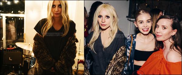 19/04/16 - Lady Gaga était à une soirée privée organisée par la chanteuse Lykke Li - à Hollywood. Cette soirée fêtait le lancement du nouveau groupe de celle-ci. Seulement deux petites photos sont disponibles de Gaga, dommage.
