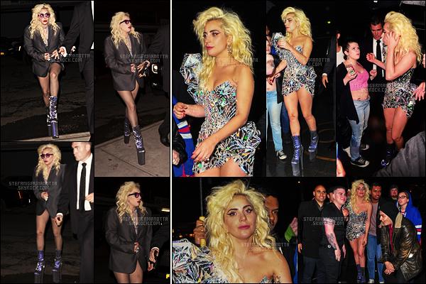 02/05/16 - La chanteuse Lady Gaga s'est rendue à l'after-party du MET Gala, toujours dans New-York. Tard dans la soirée, Gaga a été vue rentrant à son appartement. Enfin des tenues plus excentriques, ça nous manquait un petit peu ...