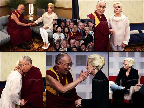 26/06/16 - Lady Gaga était présente à la Conférence annuelle des Maires des Etats-Unis à Indianapolis.  Lady Gaga était en présence du Dalai Lama. La conférence était sur l'état des villes américaines, autrement dit, sur les conditions de vie.
