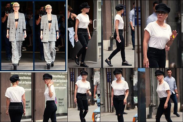 04/08/16 -  Lady Gaga et « sa tenue pas jolie » , ont été vues sortant de son appartement - à New York.  Le lendemain, Gaga était encore de sortie au studio dans NY, les aller-retours s'enchaînent mais elle reste très discrète sur ce futur album.