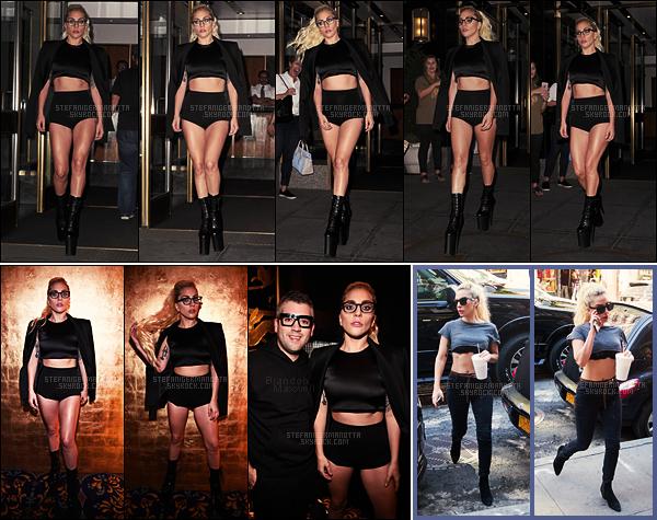 13/09/16 - Lady Gaga a été vu sortant de son apparte et se rendant au défilé de Brandon Maxwell à N-Y.  Le lendemain, Gaga a encore été aperçue mais cette fois-ci dans les rues de la ville. J'aime bien ses deux tenues, le ton est donné on dirait