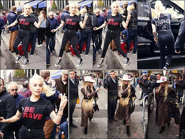 25/11/16 - Dans la journée, Lady Gaga a été photographiée quittant son appartement situé dans New-Y.  Hier ( 24/11 ), Gaga avait déjà été vue sortant de son appartement new-yorkais, que pensez vous de ces tenues ? plutôt un top, ou flop?
