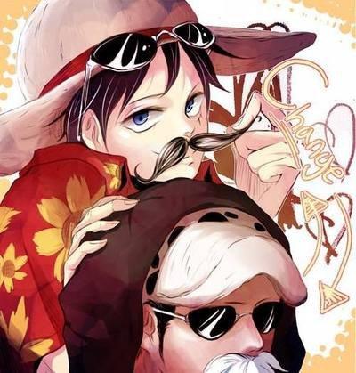 Vous preferez quel foto Law x Luffy ?