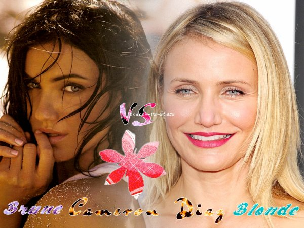 Cameron Diaz : brune vs Blonde