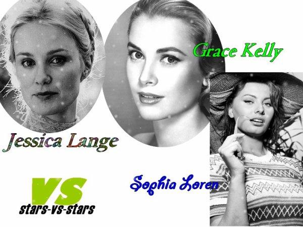 un vs des actrices ( icones des années 1950)