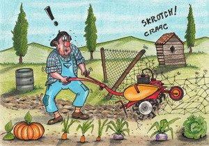 Le jardinier maladroit humour d lice tout en dessins - Dessin jardinier humoristique ...