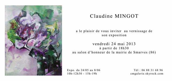 EXPOSITION SMARVES - 86  -  Mairie salon d'honneur   -  24 mai - 8 juin 2013  -