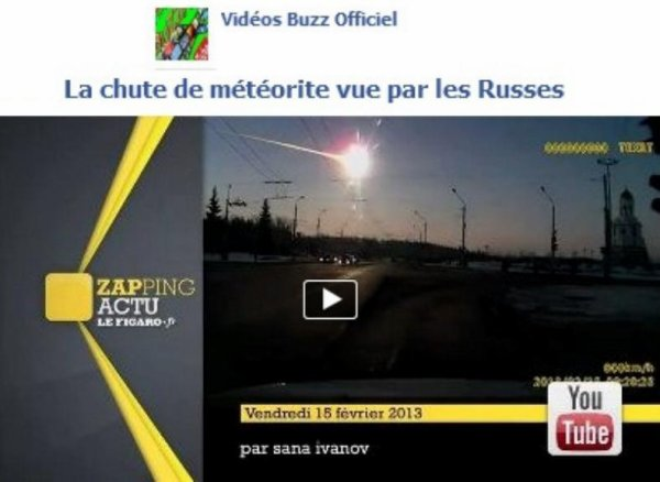 La chute de météorite vue par les Russes