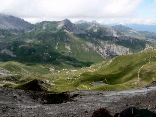 Côté ouest, vue sur la Saulire