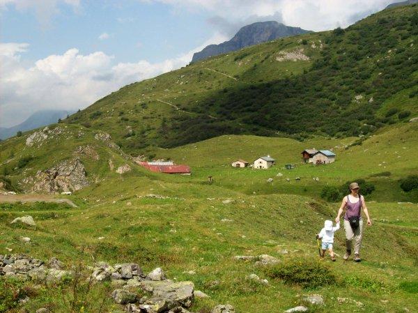 Retour en Vanoise aout 2011 journée vers Ritort en famille