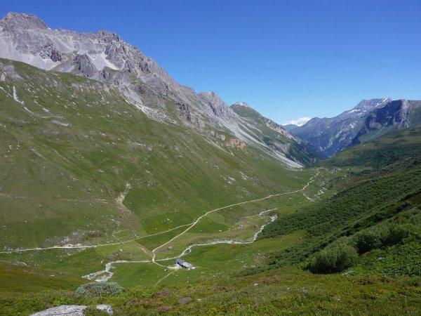 Vallée da Chavière en aval de Ritort