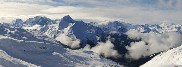 Panoramique du samedi 11 avril sur la Vanoise
