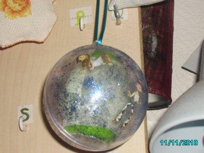 """pour lilou! boule stransparente ! avec oeuf suprise """" garcon""""  ( 3)"""