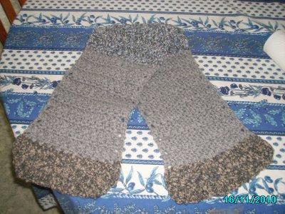 pour lilou ! nouveauté :1 écharppe adulte (8) fait en laine et fait main !