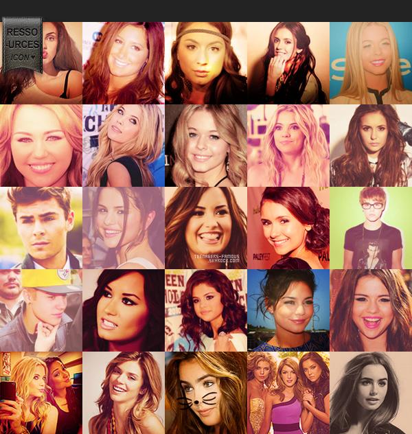♦ 50 icons de nos teens favoris juste pour vous by t-f !     ____          «  -Wouah t'est gentille ! -Je sais je sais (a) »     #Article 27 : ressources.