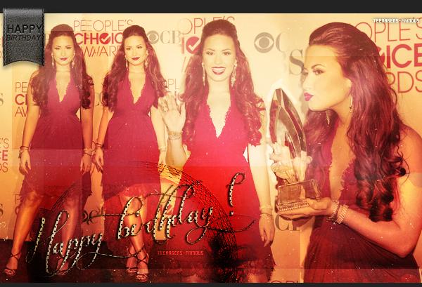 ♦ « Happy Birthday to you , Demi ! ♫ »    _          Déjà 20 ans , c'est quel grandit... LOL , je parle comme une mémé !     #Article 28 : birthday, Demi Lovato.