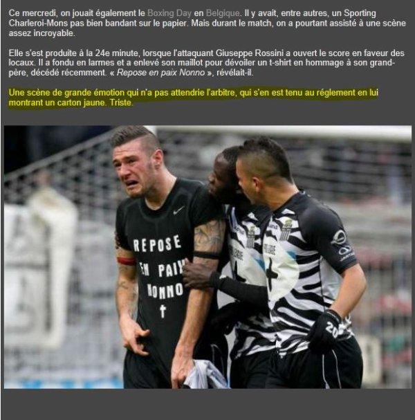 Un arbitre sans COEUR !!!!!! Joeri Van De Velde