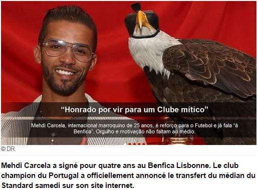 Carcela a signé pour quatre ans au Benfica