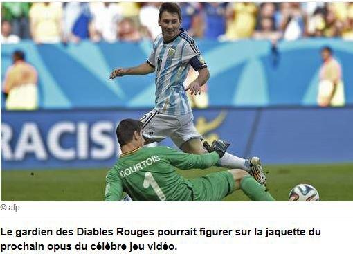 Courtois avec Messi sur la jaquette de FIFA 16?