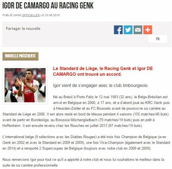 De Camargo à Genk