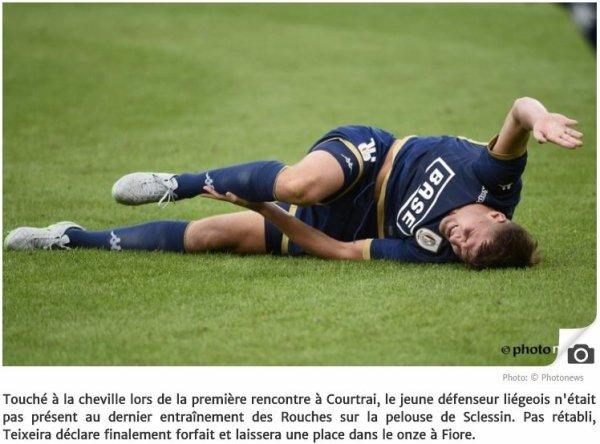 Arslanagic absent, Teixeira reste incertain