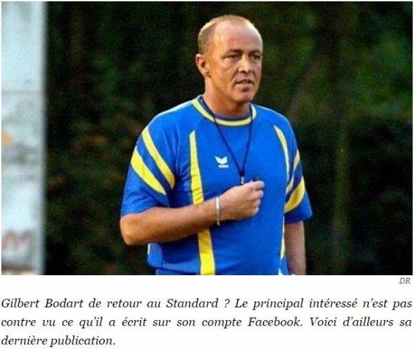 """GILBERT BODART PRÊT À VENIR À LA RESCOUSSE DU STANDARD ET DE SON PIÈTRE BILAN D'UN POINT SUR DIX-HUIT: """"DES NOUVELLES PROCHAINEMENT"""""""