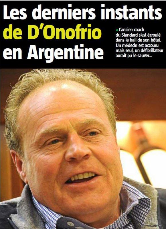 D.D. Les derniers instants de D'Onofrio en Argentine
