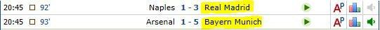 Ligue des champions 1/8 retour