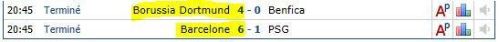 Ligue des champions 1/8 retour  MATCH de FOU