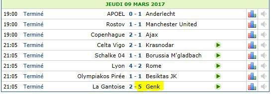 Europa League 1/8 aller