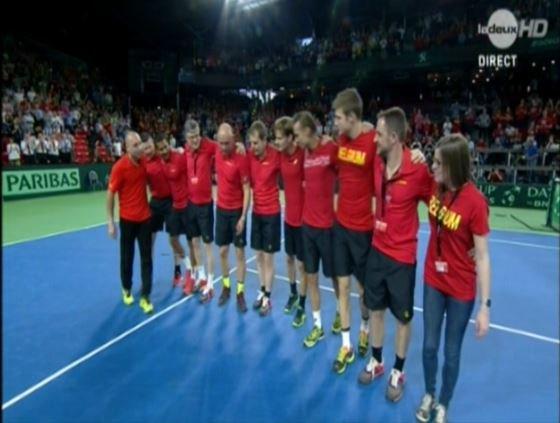 Tennis La Belgique en 1/2 FINALE