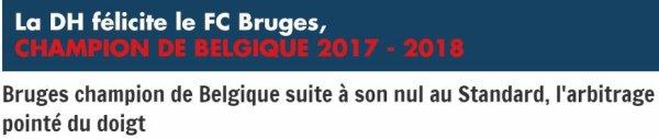 Le titre pour Bruges et le DOUBLE pour les BARBIES