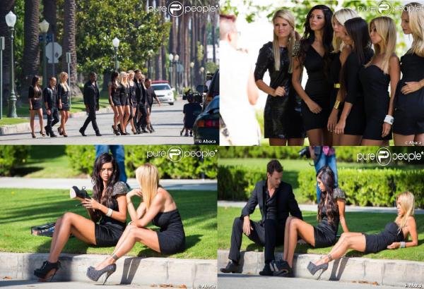 Shauna sur le tournage de HG3 à Los Angeles