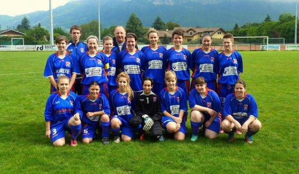 L'équipe 2 des féminine de St-Pierre En Faucigny