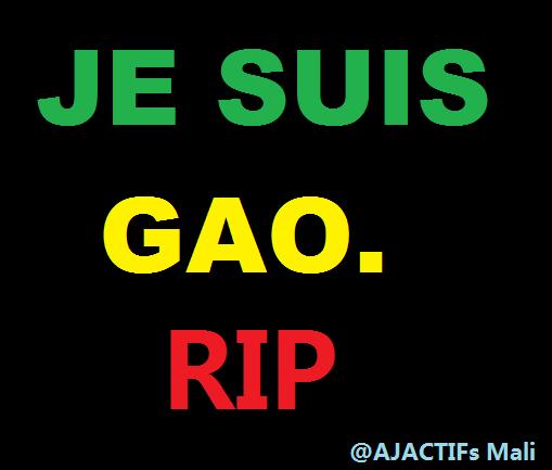 RIP aux victimes de l'attentat de Gao