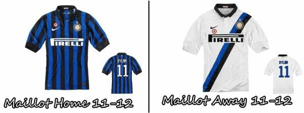 Les Maillot 11-12 de l'Inter Milan