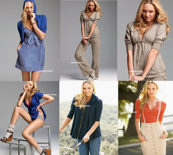 voici un photoshoot de candice pour Victoria's Secret Clothing