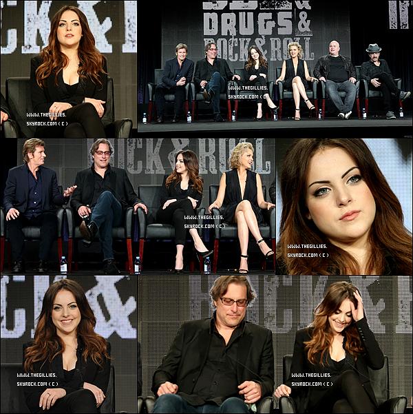 •●18 Janvier 2015●• Liz & le cast de la série Sex& Drugs & Rock & Rollétait au TCA WINTER TOUR pour parler de la série.
