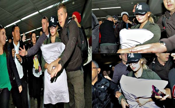 le 28/09/2012 Demi a été vue arrivant à l'aéroport de Sao Paulo au Brésil :