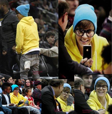 Justin était en compagnie de Lil Twist a un match de basket à Atlanta « New Orleans Hornets vs. Atlanta Hawks »  le 21 janvier dernier.
